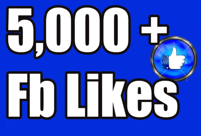 I will Gives you 5,000+Instantly started Active Facebook Fan Page likes