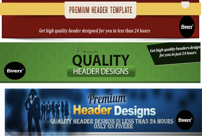 create an awesome header for your website