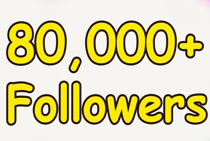 Add Real Quality 80,000 Twitter Followers to your Profile