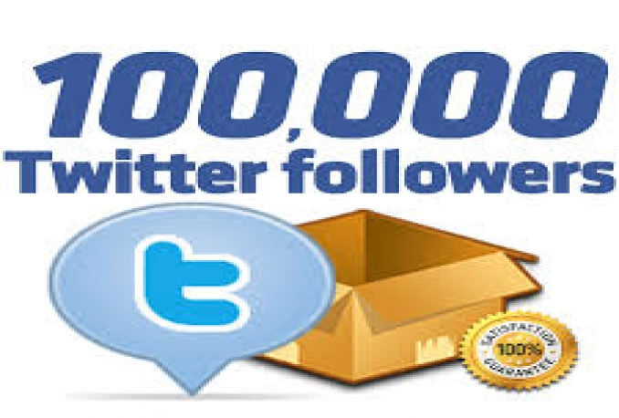Add Real Quality 100,000 Twitter Followers to your Profile