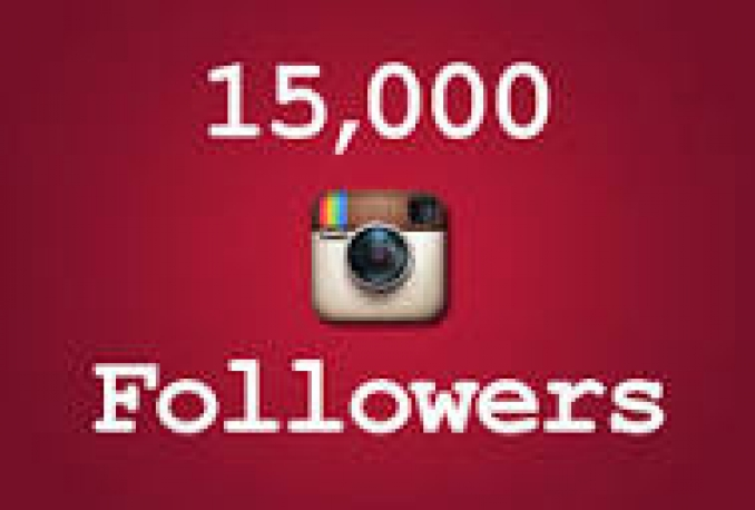 I will Instagram 15,000 Instant Fast Non Drop Followers