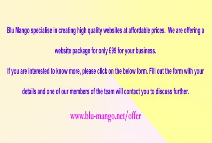 make a website package for your business
