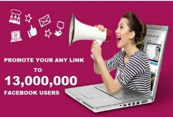 promote your any LINK to 13,000,000 facebook group members