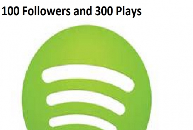 provide 100 Spotify Followers and 300 Plays