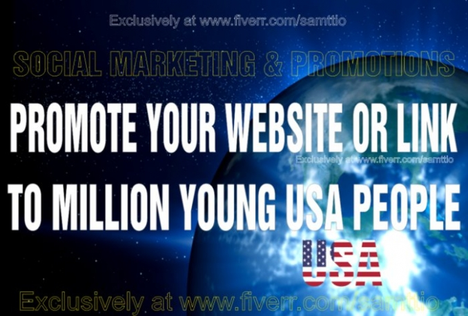 romote website or link to 500 million young people on facebook twitter for traffic