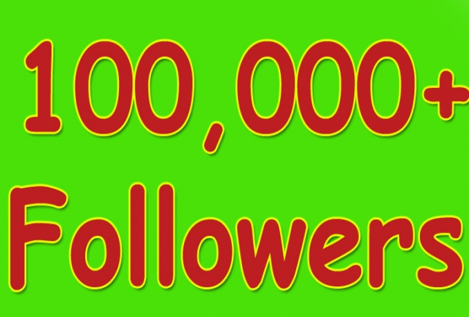I will Twitter 100,000+Stable/NON Drop/Fast Followers.