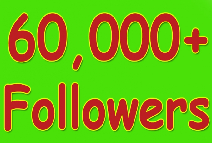 I will Twitter 60,000+Stable/NON Drop/Fast Followers.