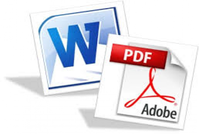 convert 25 word documents of your choice to pdf form within 24 hours or less