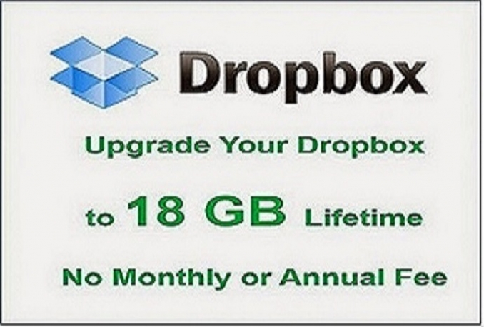 I will upgrade a Dropbox account to 18 Gigabytes free lifetime storage