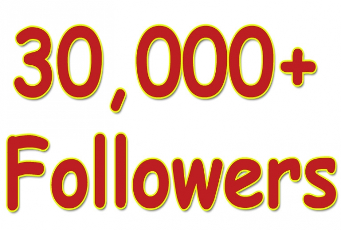 Twitter 30,000+Stable/NON Drop/Fast Followers