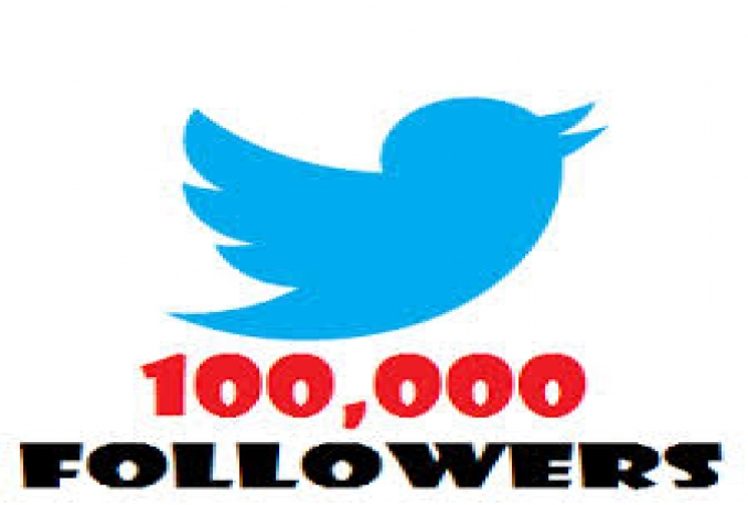 Twitter 100,000+Stable/NON Drop/Fast Followers.