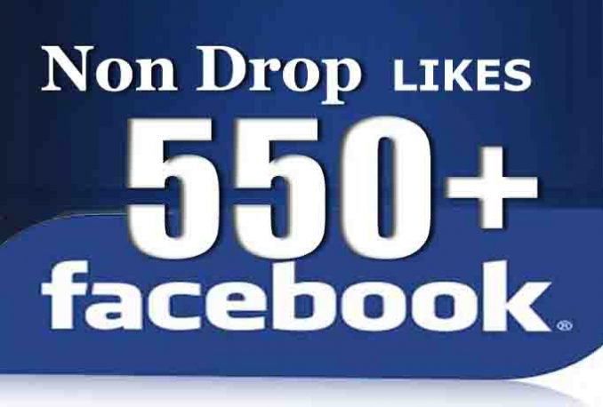 add 550 Non drop Facebook Likes