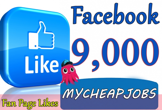 Give you 9,000+Instantly started Active Facebook Fan Page likes