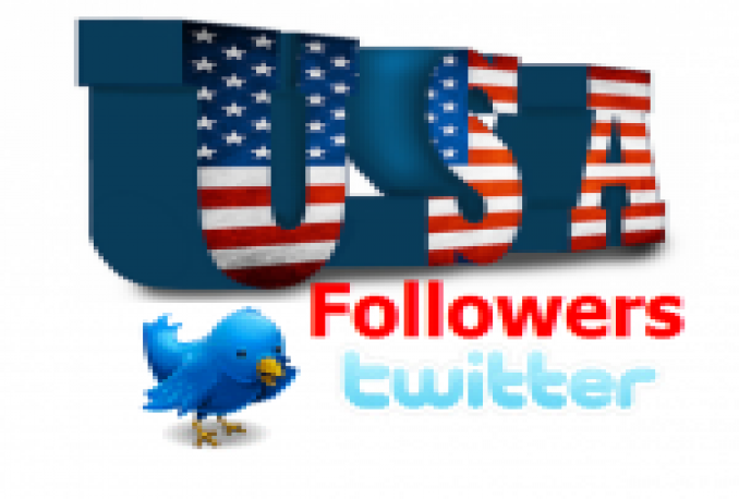 TWITTER 25,000+(USA)HIGH QUALITY NON DROP FOLLOWERS (NO EGG)