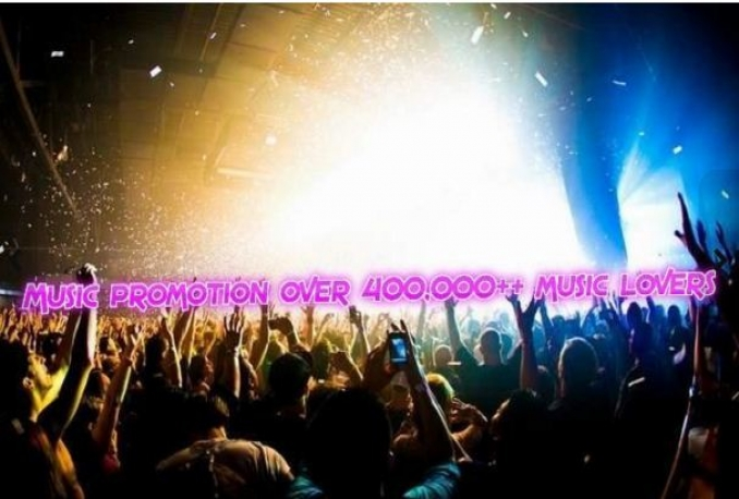 promote your music over 4000,000 people