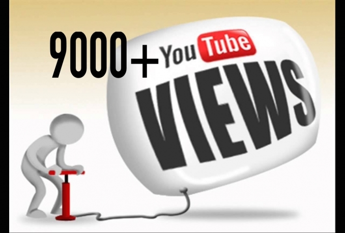 give you 9000+ High Retention YouTube Views