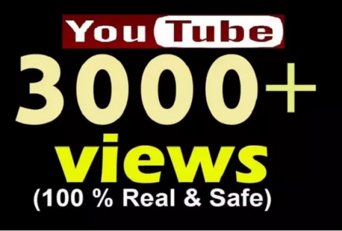 add for real and safe 3000 Plus Youtube views,likes