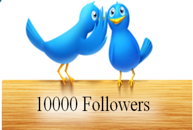 I will provide guranteed 10,000+ twitter followers in your account for $10