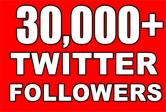 Twitter 30,000+Stable/NON Drop/Fast Followers.