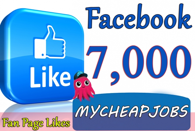 Give you 7,000+Instantly started Active Facebook Fan Page likes
