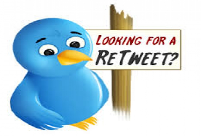 give 600+twitter retweets(2days)