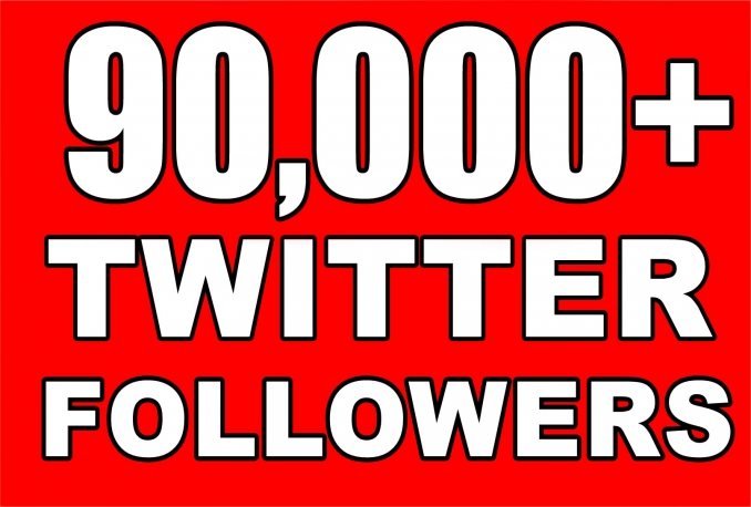 Twitter 90,000+Stable/NON Drop/Fast Followers.