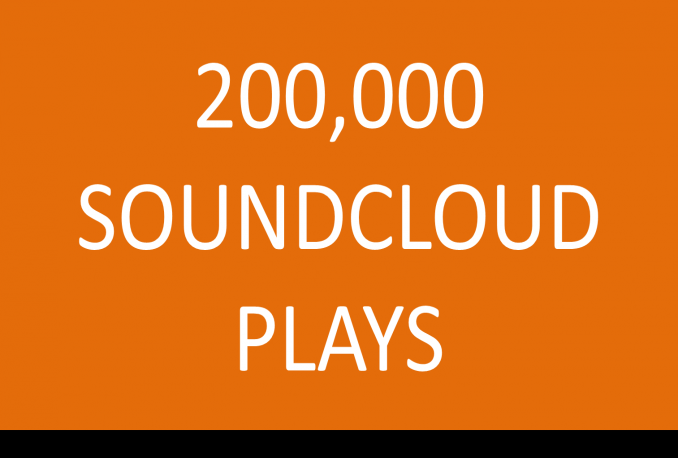 200000 Soundcloud Plays 200 Likes