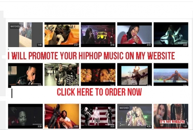 promote Your New Music or Music Videos on my HipHop Music Website