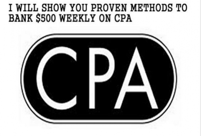 show You proven Methods To Bank 500 plus weekly with CPA