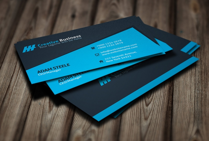 design professional and outstanding double sided business card