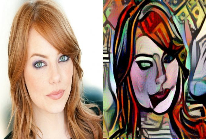 draw you in Pablo Picasso style