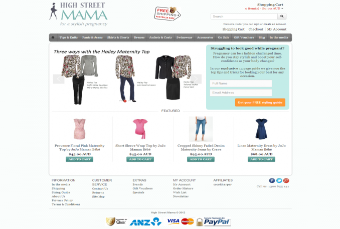 build SEO enabled ecommerce website