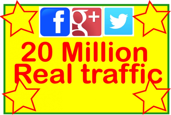Promote your webisite/URL 20 Million Real People on Facebook,Twitter,Google Plus