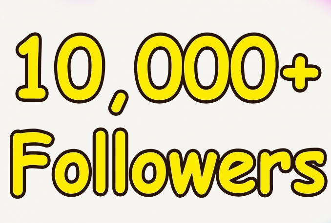 i will add 10,000 Twitter Followers In your twitter account