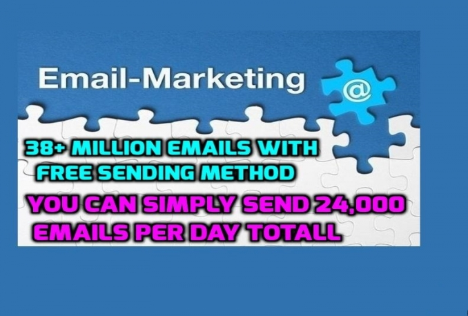 give you 1000 Million Emails With Free Sending Method