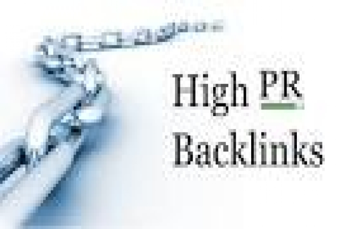 i will give you High PR Backlink  list