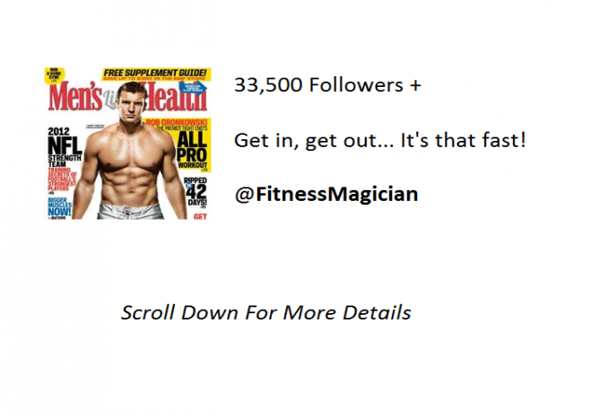 tweet your message to over 33,500 Fitness followers