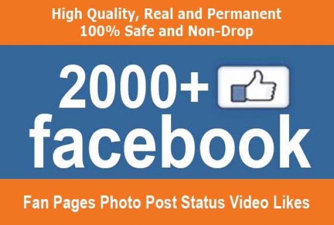 Provide 2000 Real And Permanent Facebook Post Photo Likes