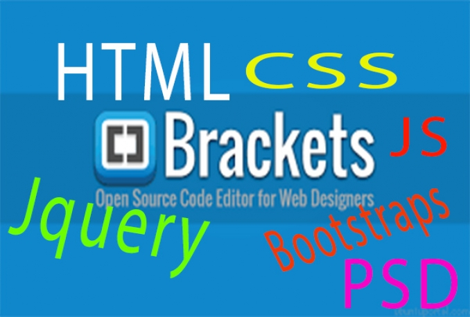 Edit or make any part of HTML, CSS, JS, Jquery, BS, PSD