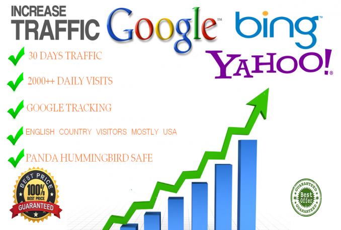 send 2000 Daily Visits for 1 month BEST PRICE