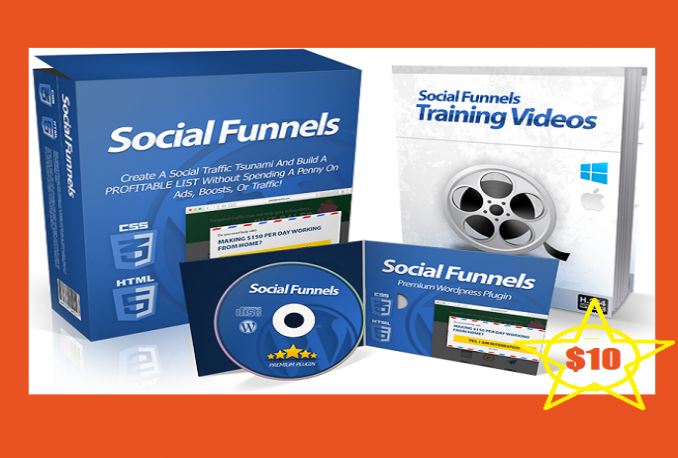 Install Social Funnel Plugin To help you build a profitable list