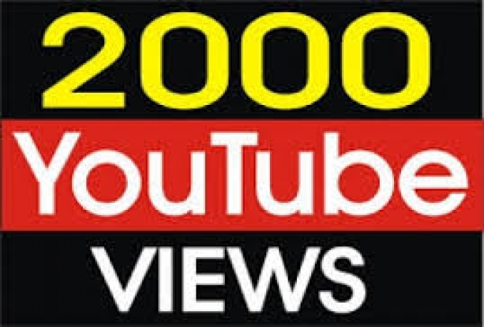 Provide 2000 HR Youtube views Or 50 Likes