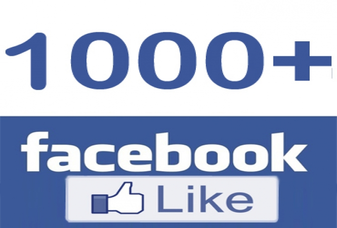 Provide 1000 Facebook Post ,Video or Photo Likes on and Public post