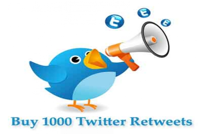 Provide 1000+ Twitter Retweets