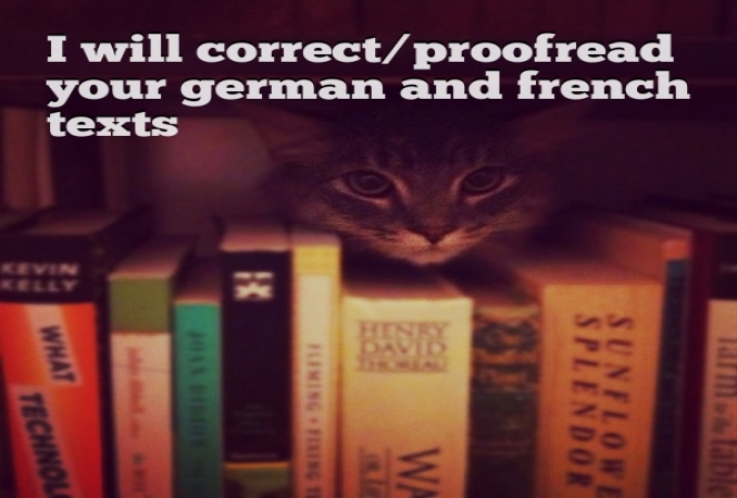 correct/proofread/translate your french or german texts