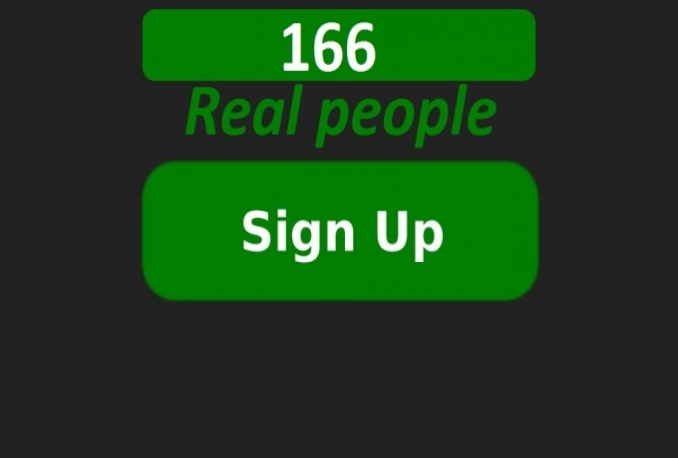 get 166 referral signup from real people