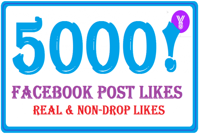 give Instant 5000 Facebook post likes