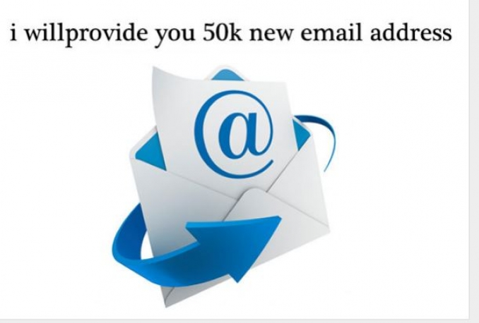 provide you 50k new email address list for email marketing