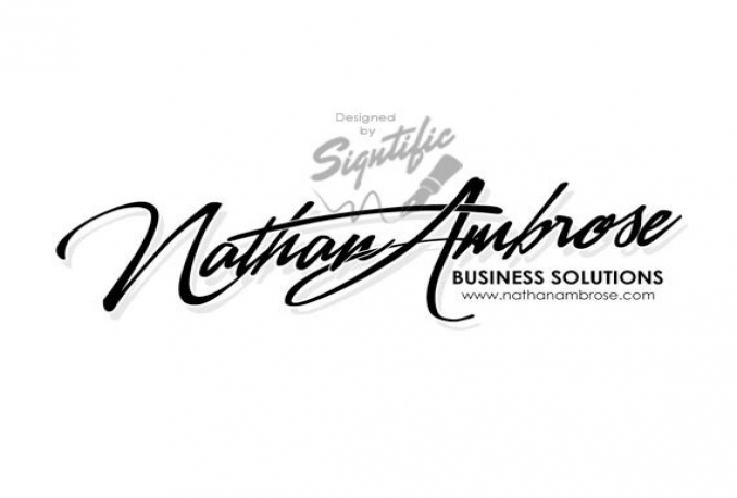 design 2 ELEGANT calligraphy and signature logo