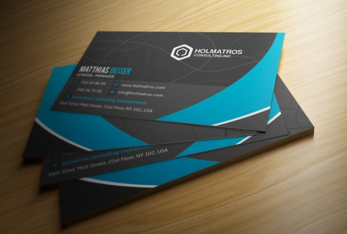 design professional and elegant business card